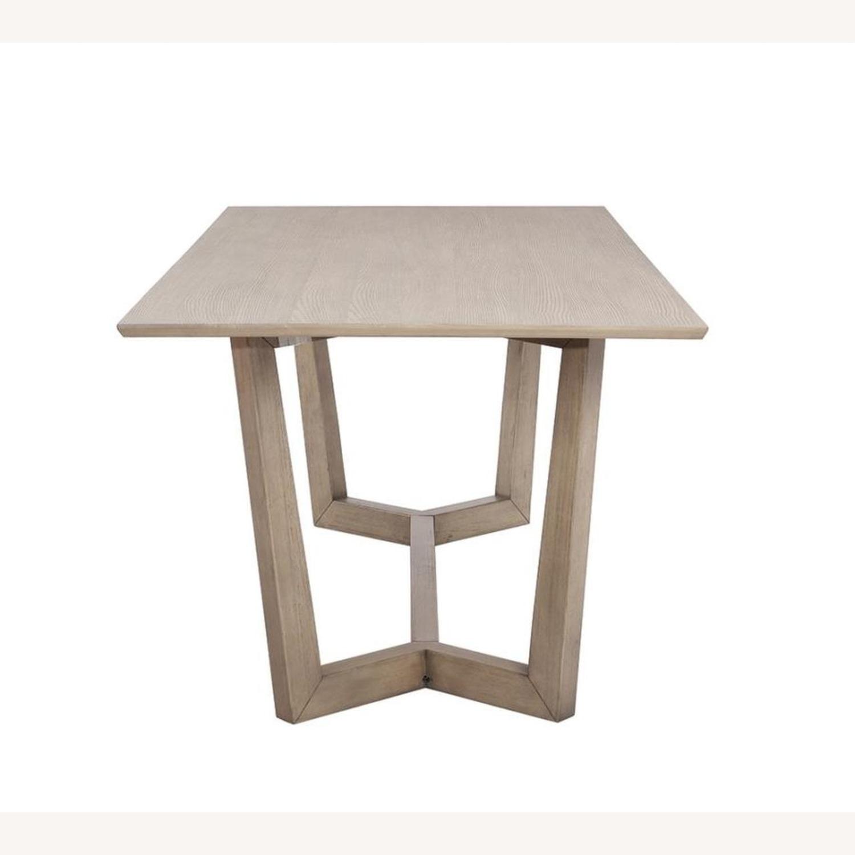Modern Danish Style Dining Table In Grey Oak - image-1