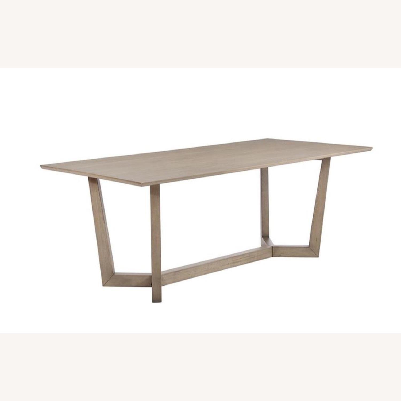 Modern Danish Style Dining Table In Grey Oak - image-0