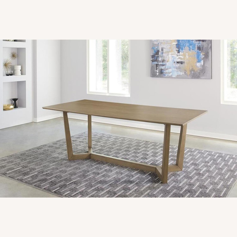 Modern Danish Style Dining Table In Grey Oak - image-3