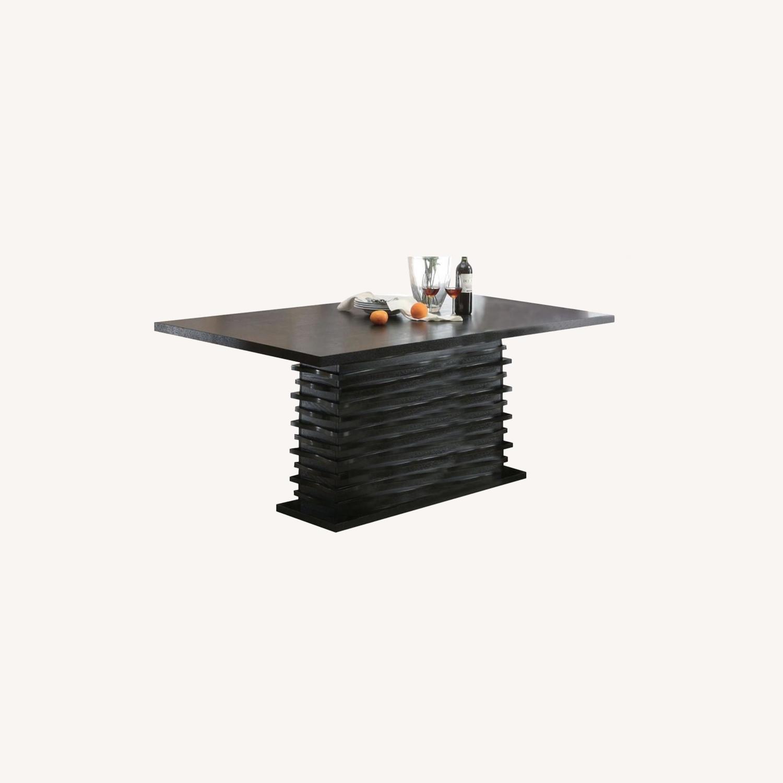 Elegant Dining Table In Black Finish - image-3