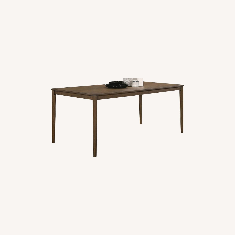 Transitional Dining Table In Medium Walnut Finish - image-4