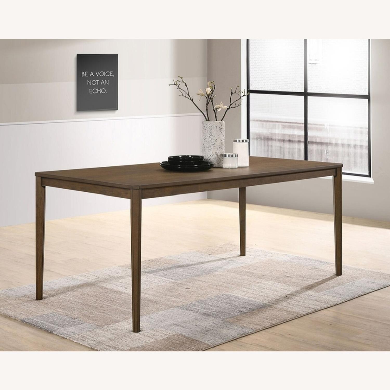 Transitional Dining Table In Medium Walnut Finish - image-2
