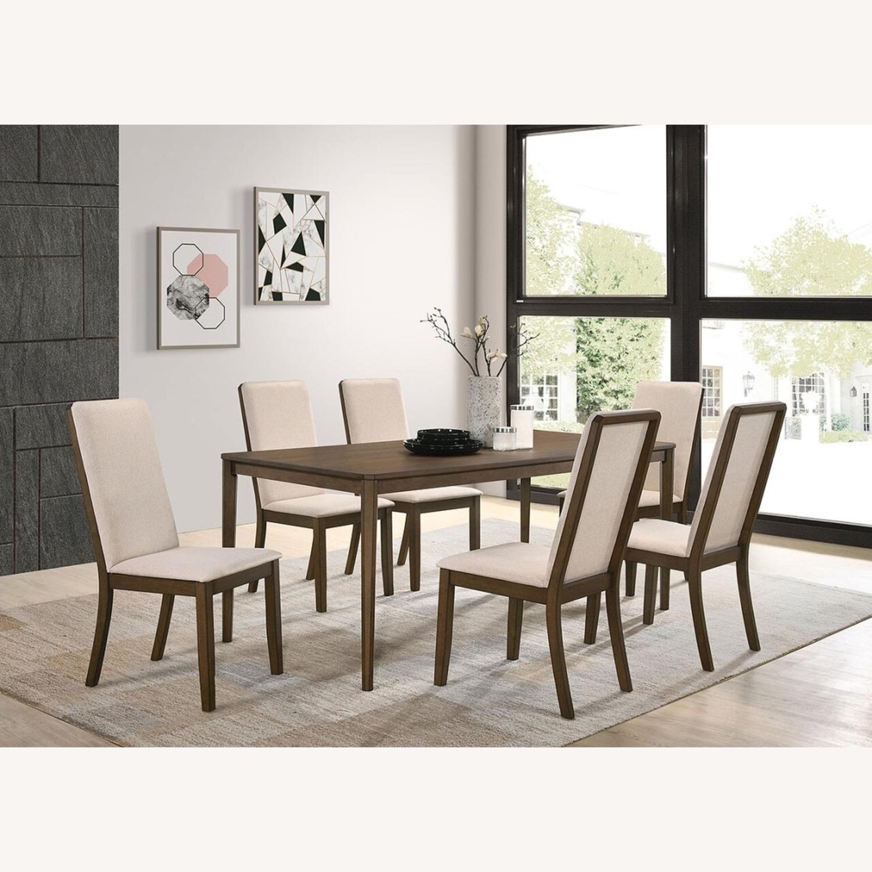 Transitional Dining Table In Medium Walnut Finish - image-3