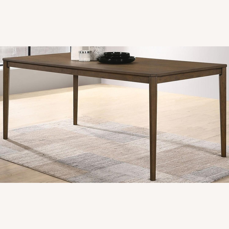 Transitional Dining Table In Medium Walnut Finish - image-1