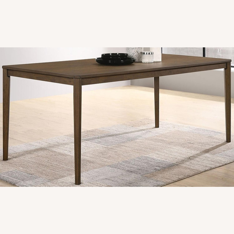 Transitional Dining Table In Medium Walnut Finish - image-0