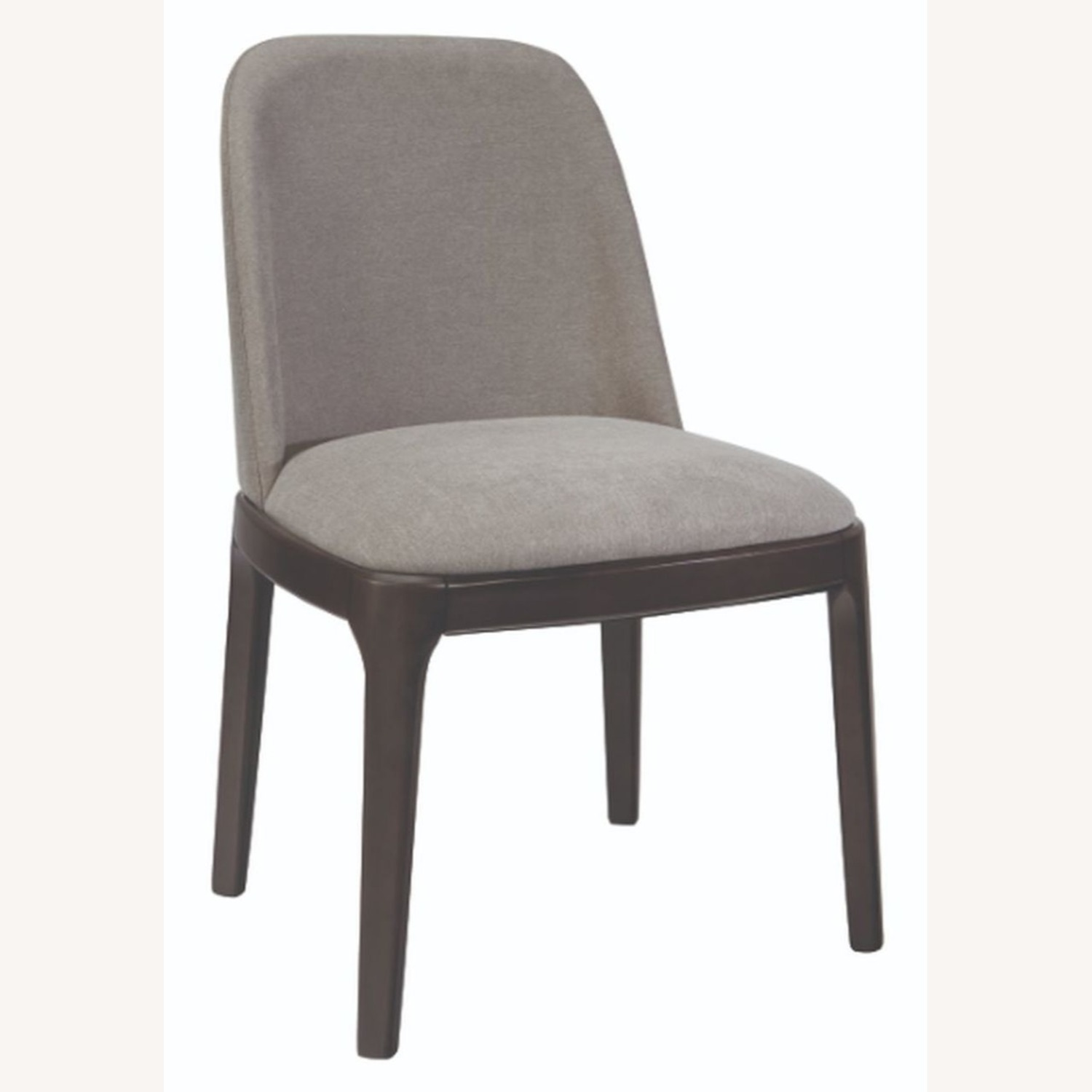 Contemporary Side Chair Upholstered In Grey Fabric - image-1