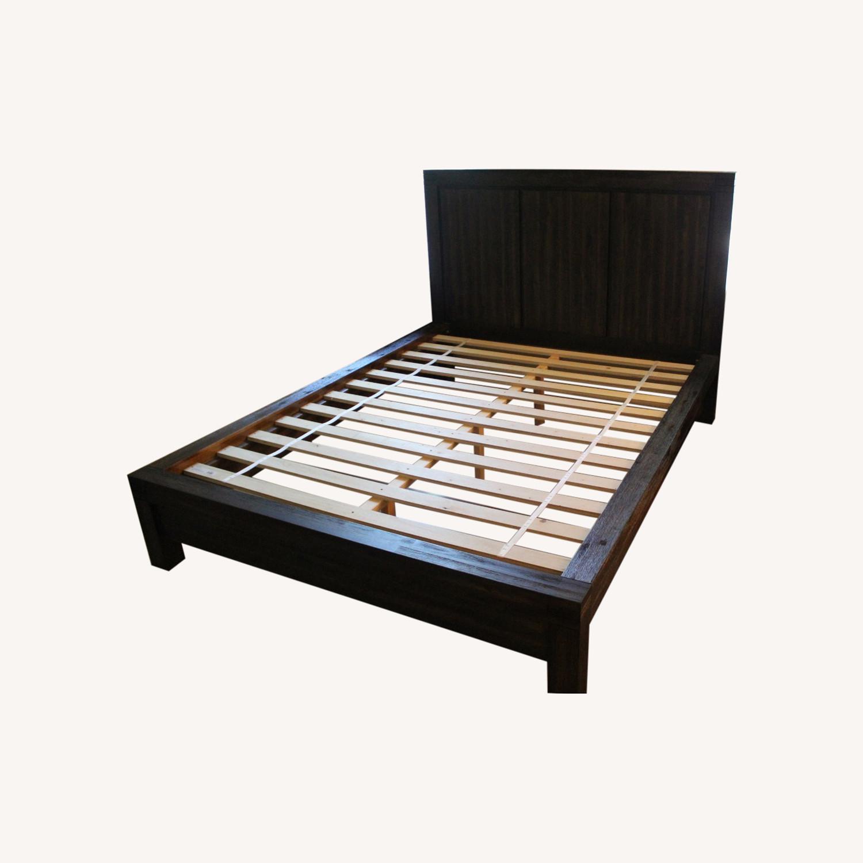 Macy's Queen Platform Bed Brown - image-0