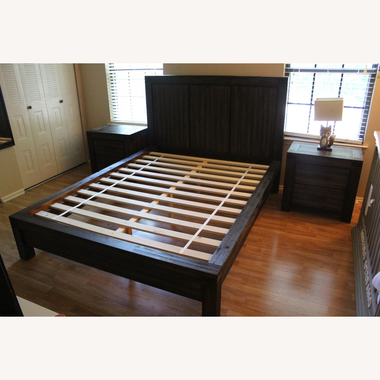Macy's Queen Platform Bed Brown - image-5