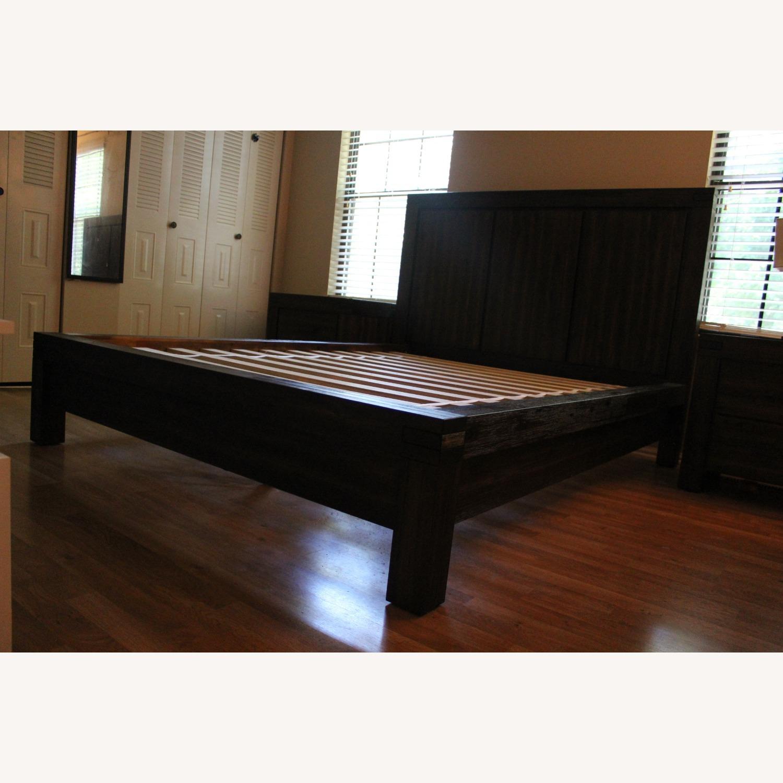 Macy's Queen Platform Bed Brown - image-3