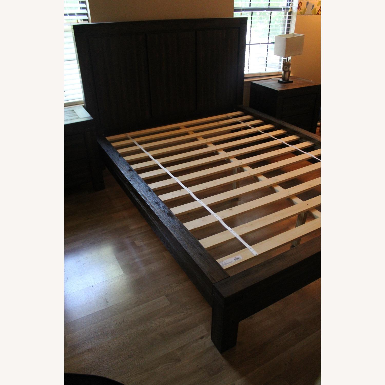 Macy's Queen Platform Bed Brown - image-1