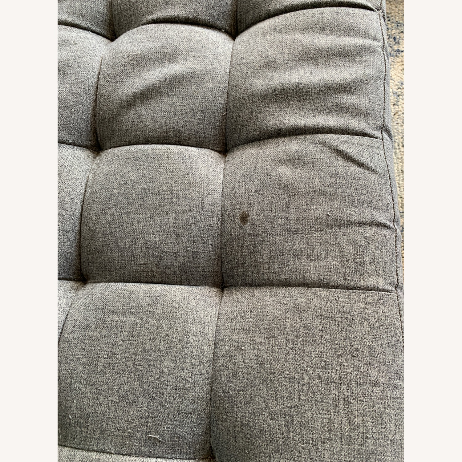 CB2 Tufted Grey Chaise Lounge Sofa - image-3