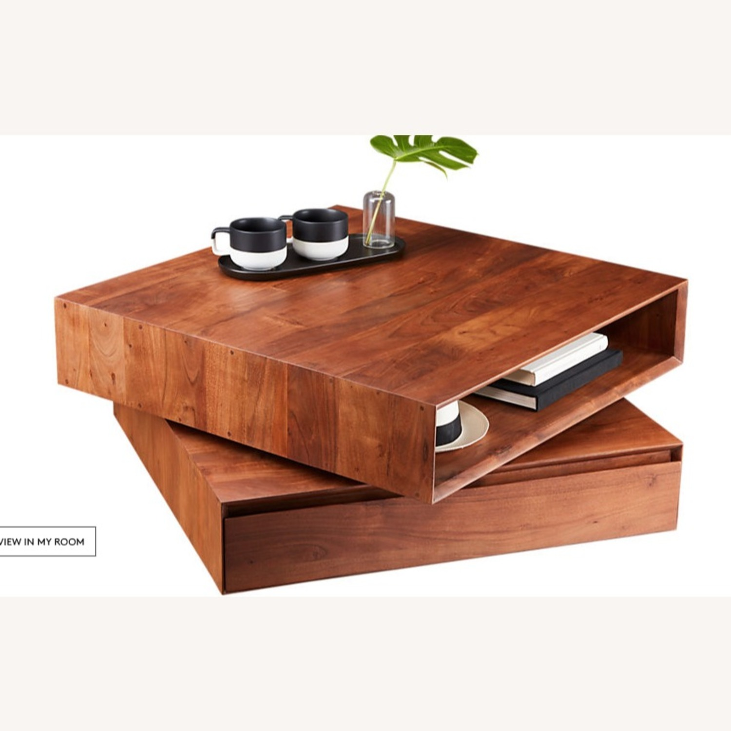 CB2 Spin Rotating Coffee Table - image-3