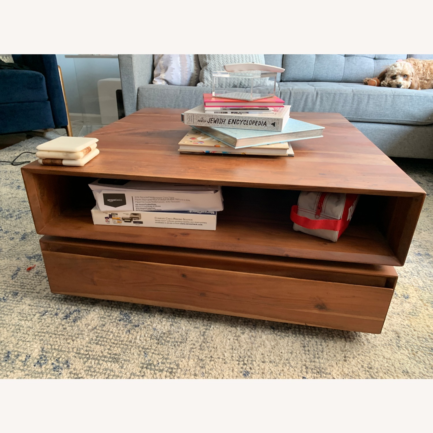 CB2 Spin Rotating Coffee Table - image-6