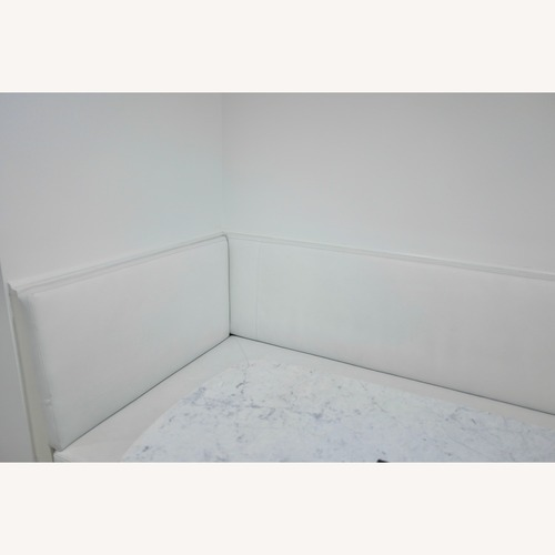 Used Taylor Made Storage Banquet wood & 100% Upholstery Leather for sale on AptDeco