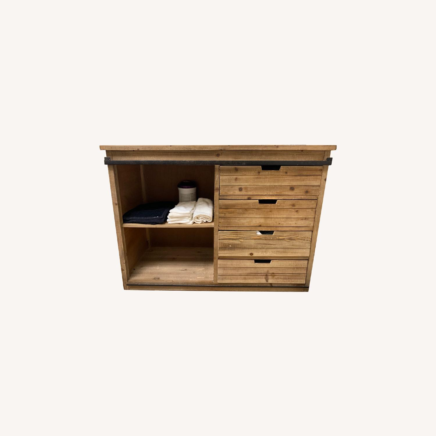 Wayfair Wood Credenza Cabinet with Metal Accent - image-0