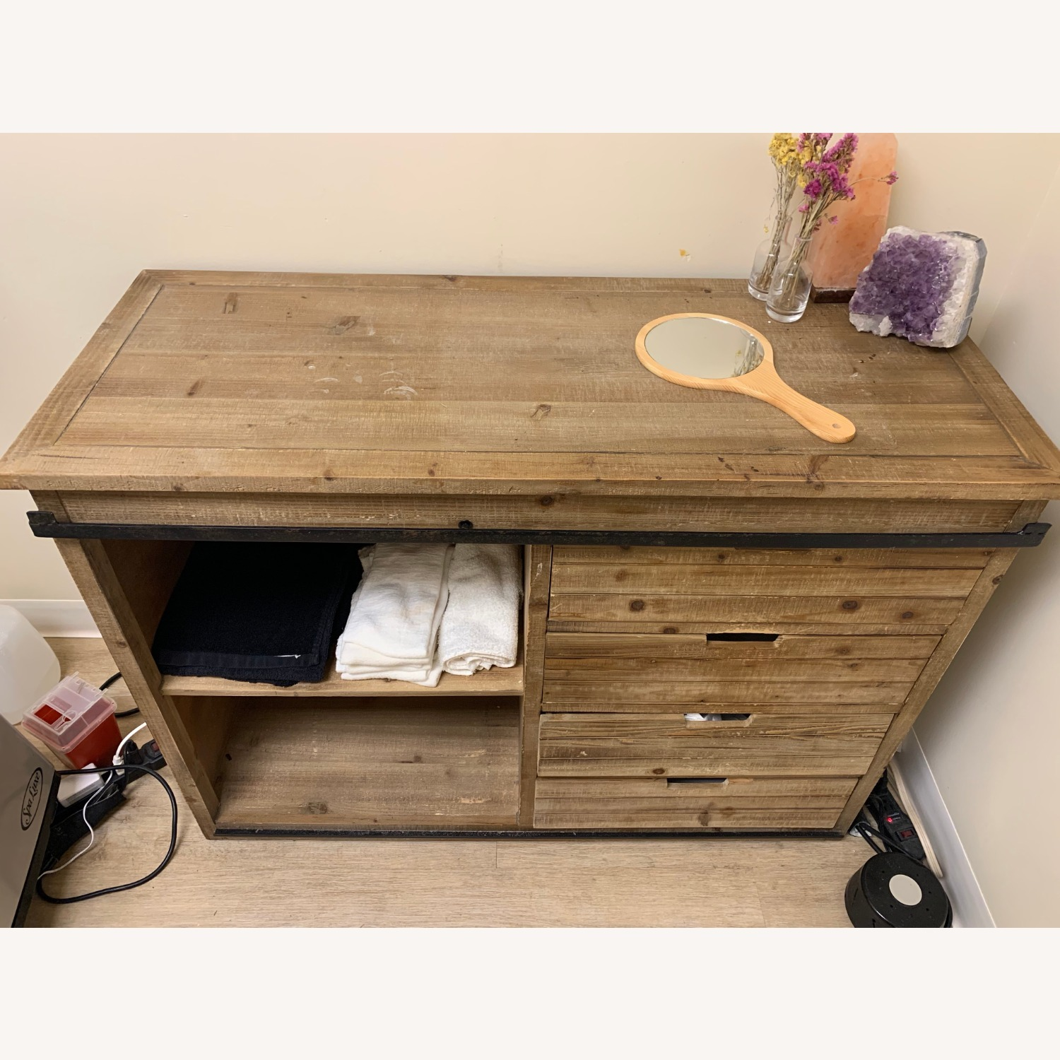 Wayfair Wood Credenza Cabinet with Metal Accent - image-2