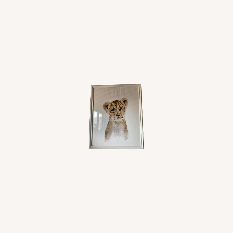Three Animal Nursery Framed Large Prints Pictures - image-0