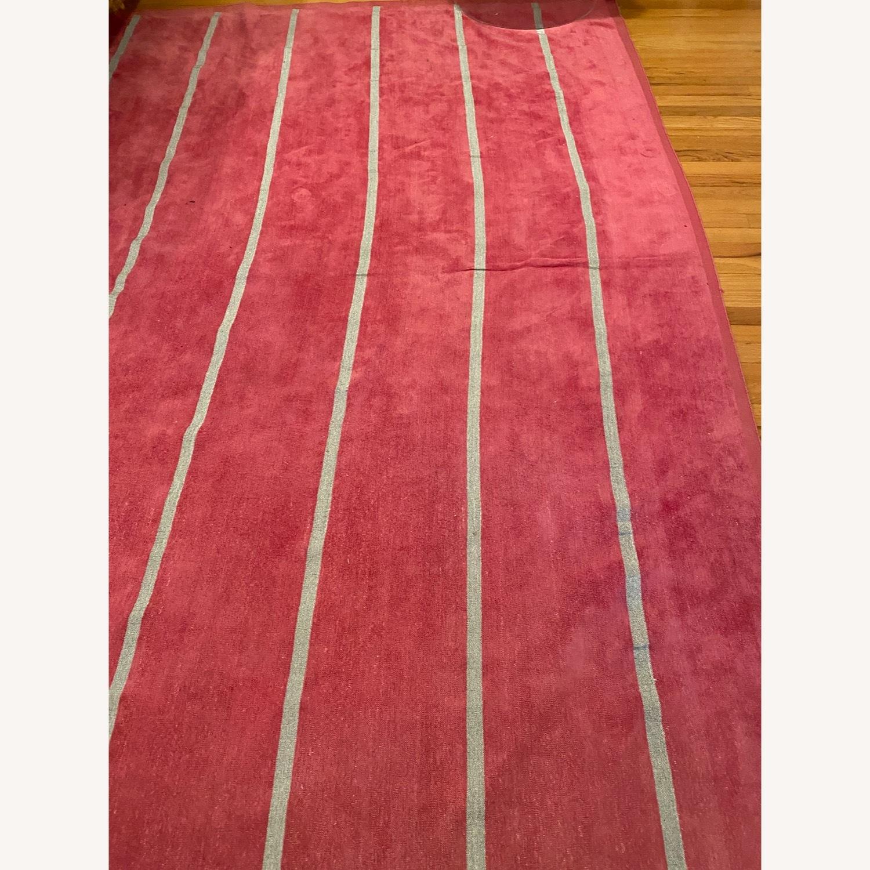 Madeline Weinrib Pink and Metallic Stripe Rug - image-2