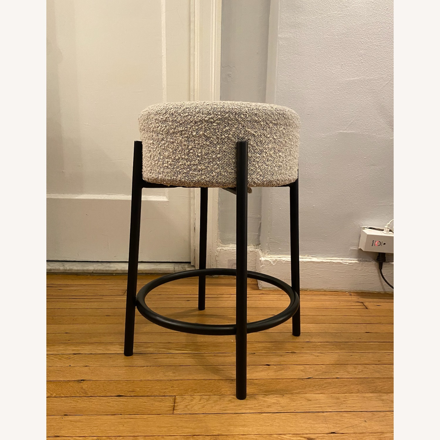 CB2 PEG Upholstered Counter Stool - image-1