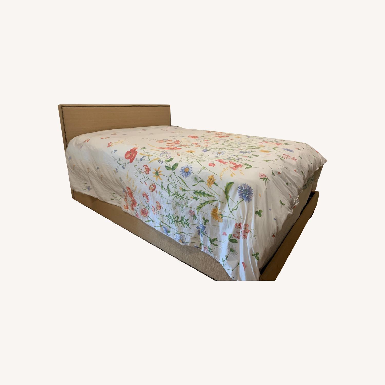 West Elm Nailhead Bed in Jute - image-0