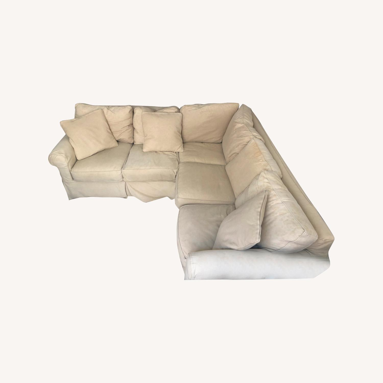 Pottery Barn Down-Stuffed 5-Seat L Sectional Sofa - image-9