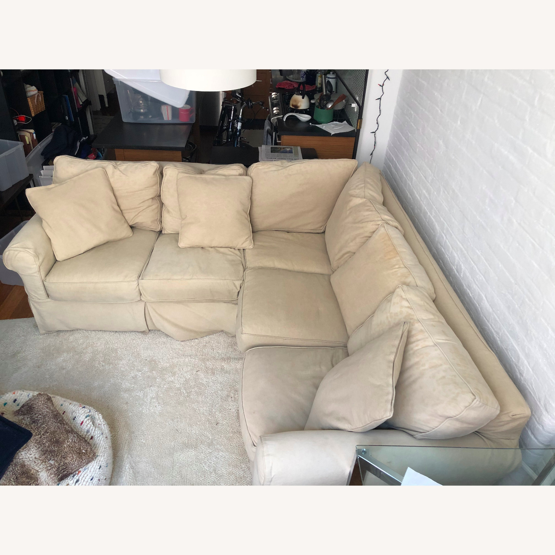 Pottery Barn Down-Stuffed 5-Seat L Sectional Sofa - image-1