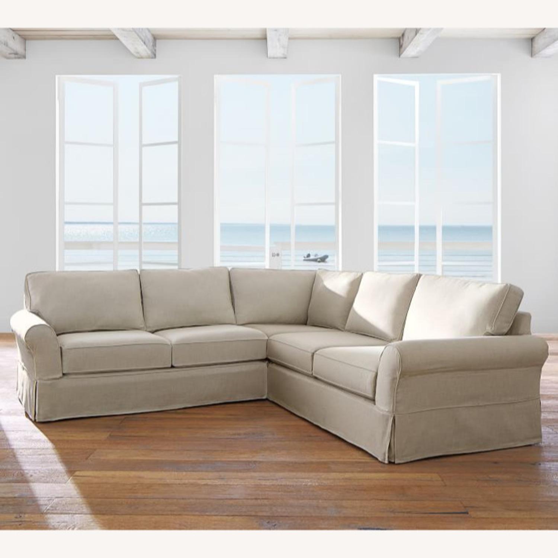 Pottery Barn Down-Stuffed 5-Seat L Sectional Sofa - image-0