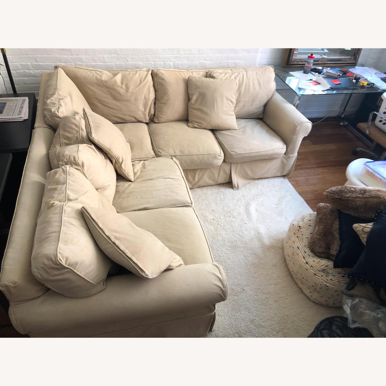 Pottery Barn Down-Stuffed 5-Seat L Sectional Sofa - image-2