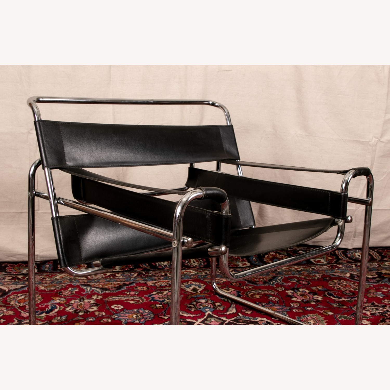 Mid Century Modern Wassily Leather Chair - image-1