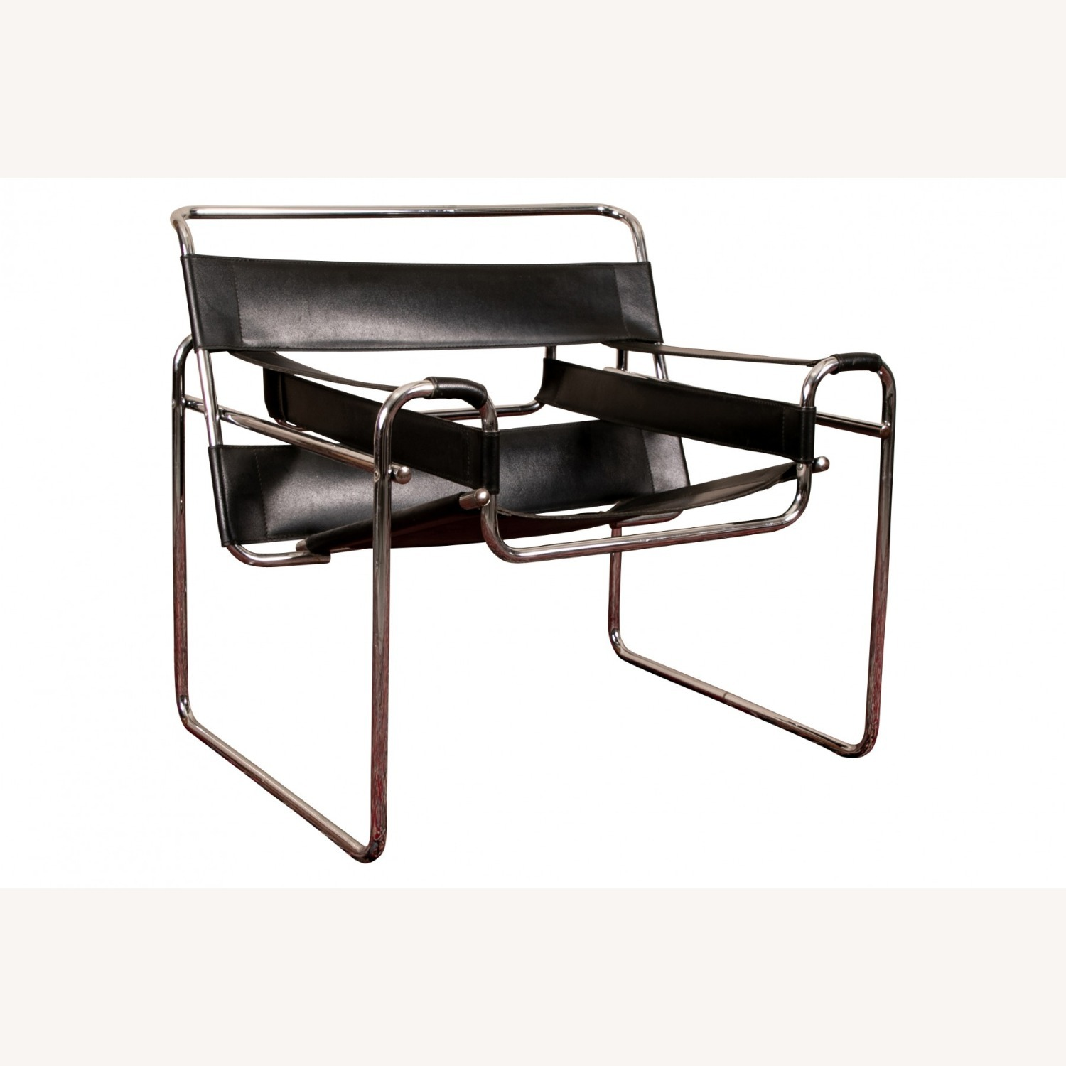 Mid Century Modern Wassily Leather Chair - image-5