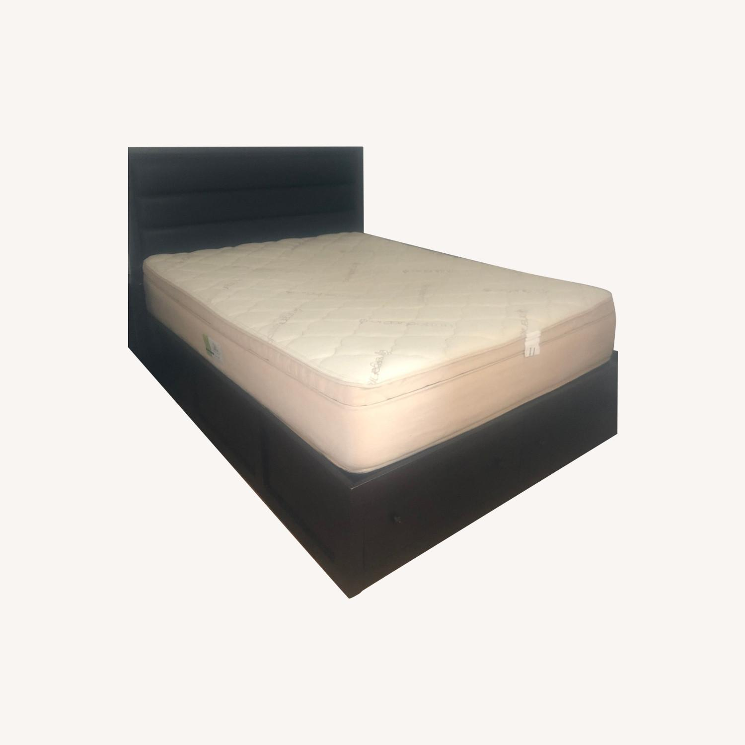 Queen Storage Bed with Headboard - image-0