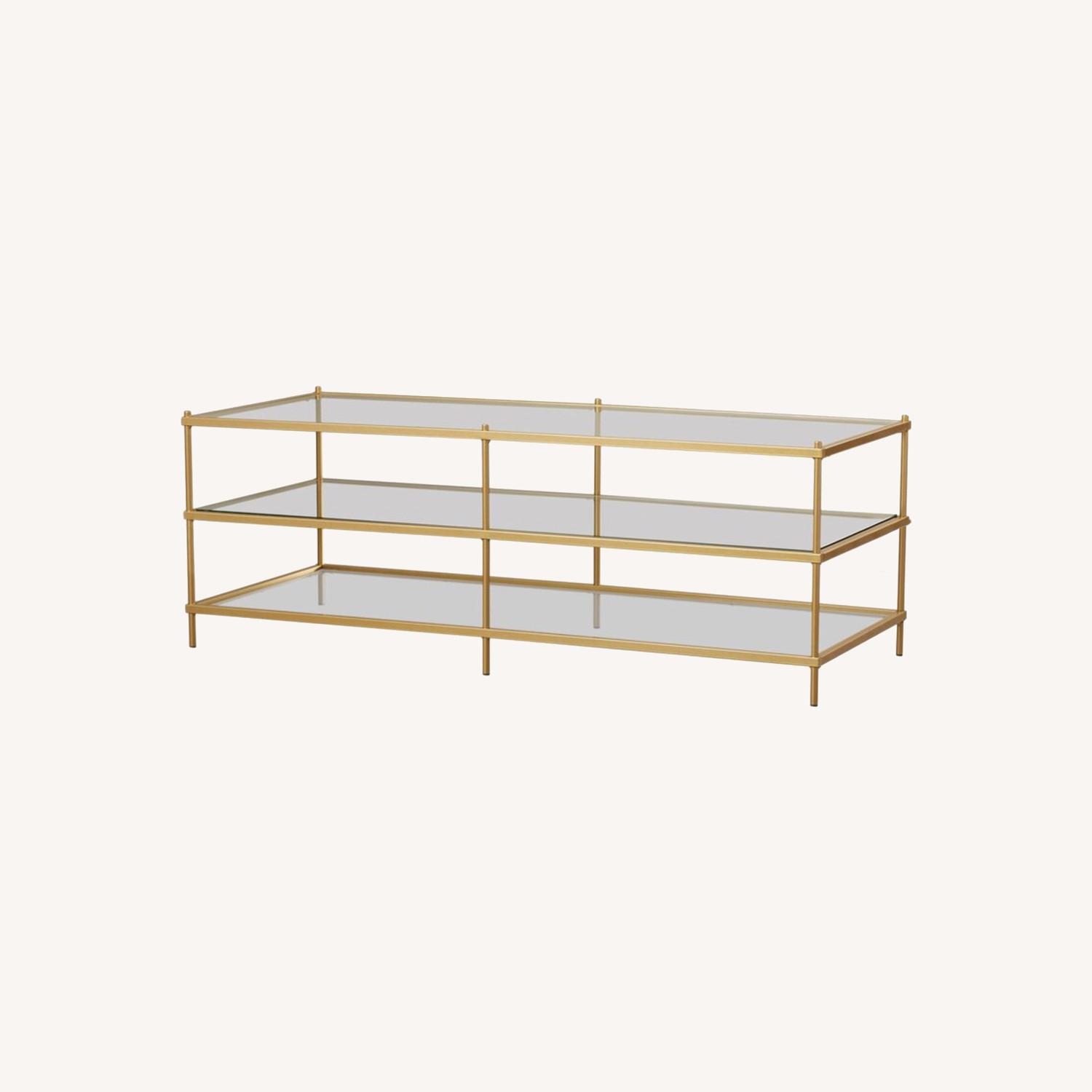 Wayfair Glass Table With Gold Detail - image-0
