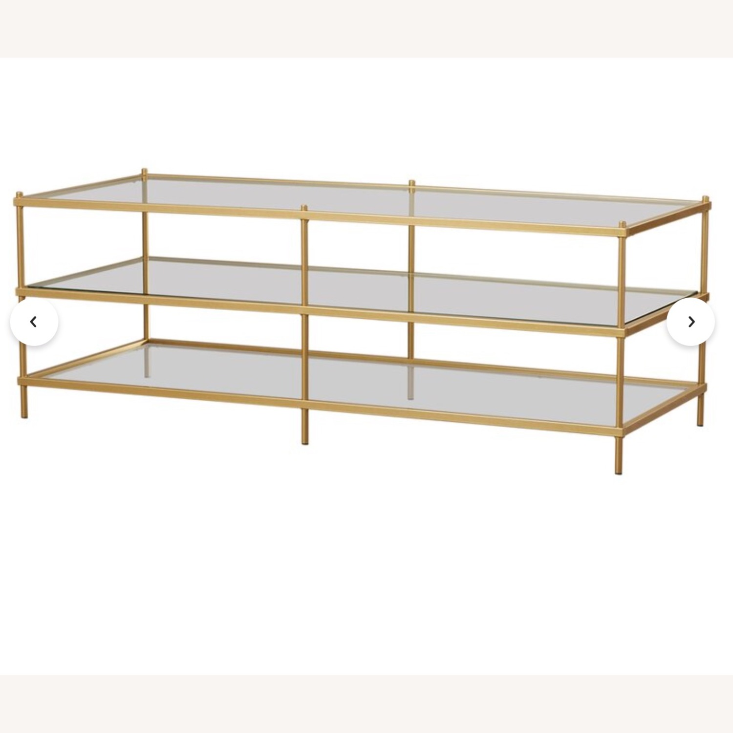Wayfair Glass Table With Gold Detail - image-5
