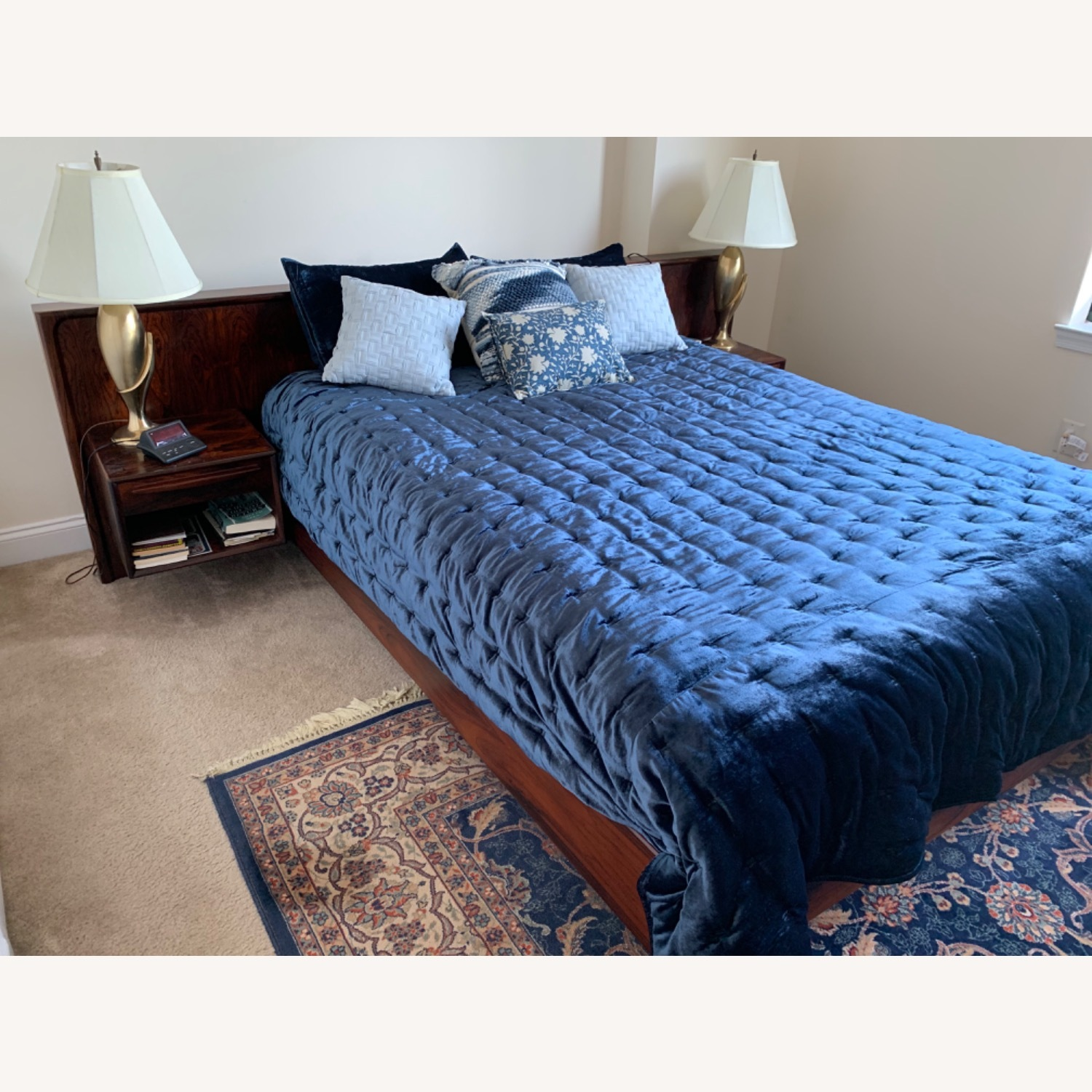 Maurice Villency Queen Bed with Attached Nightstand - image-2