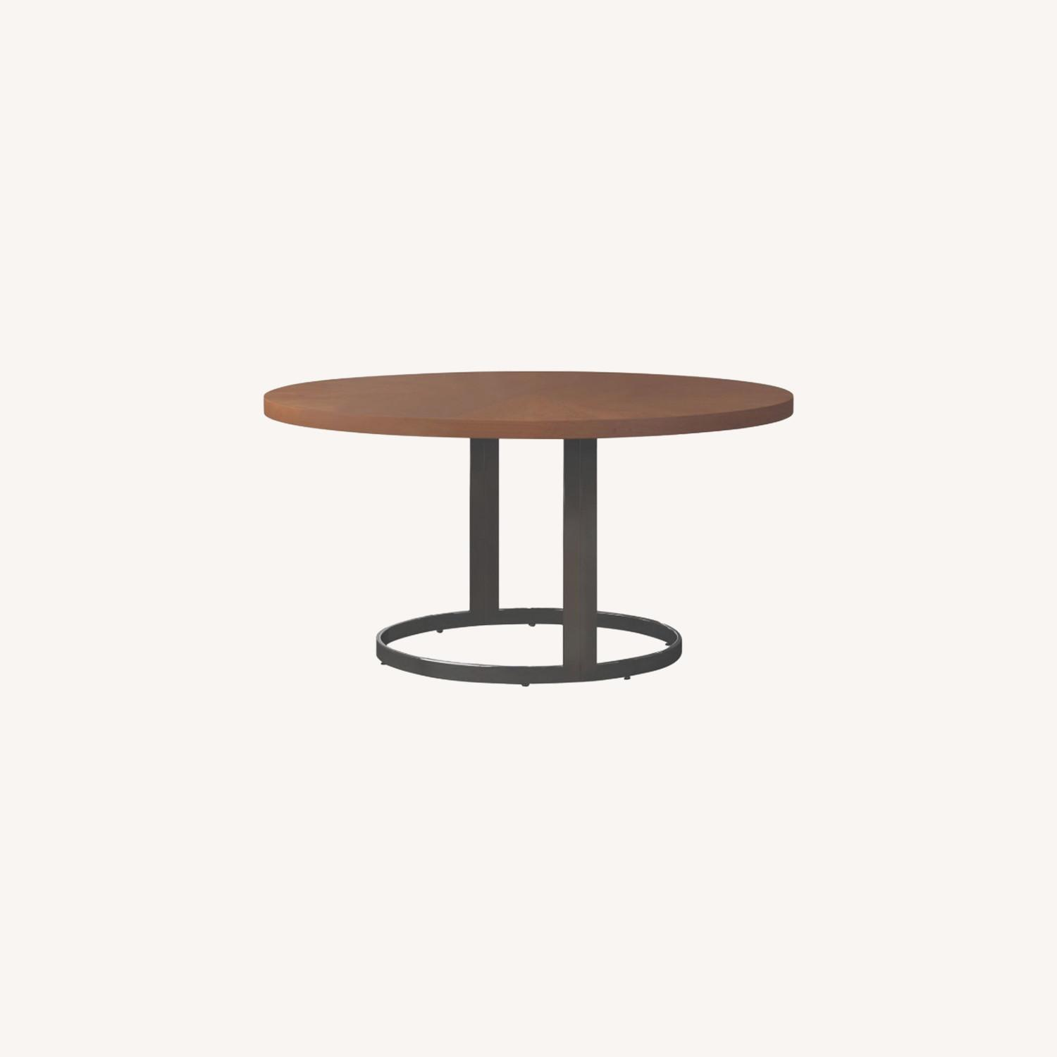 Modern Dining Table In Natural Cherry Finish - image-3