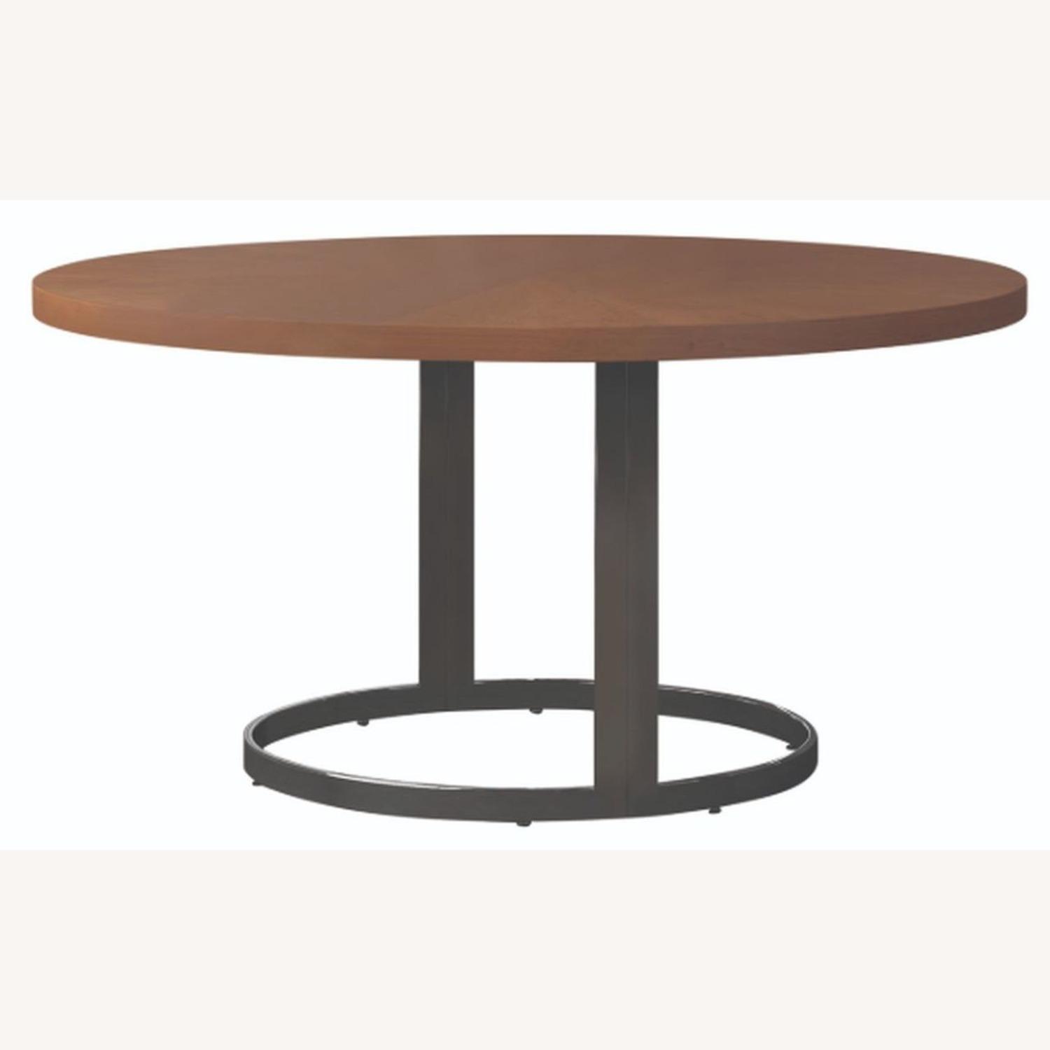 Modern Dining Table In Natural Cherry Finish - image-1