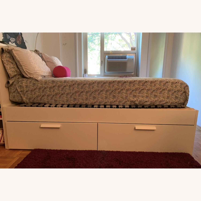 Queen Bed Frame w/ Storage & Headboard - image-5