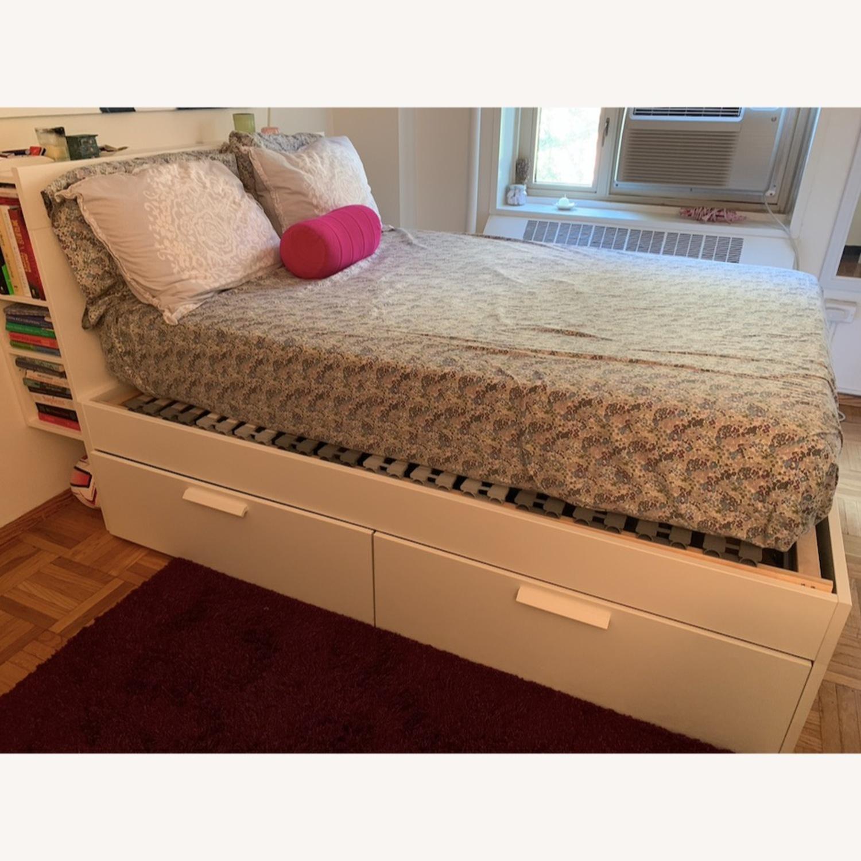 Queen Bed Frame w/ Storage & Headboard - image-2