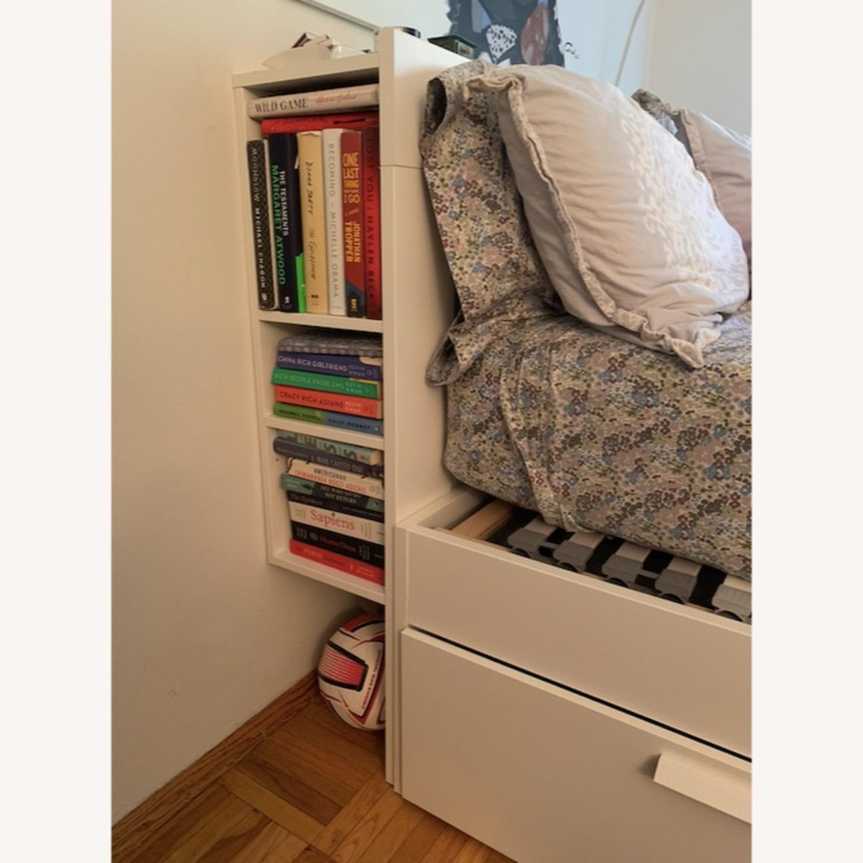 Queen Bed Frame w/ Storage & Headboard - image-3