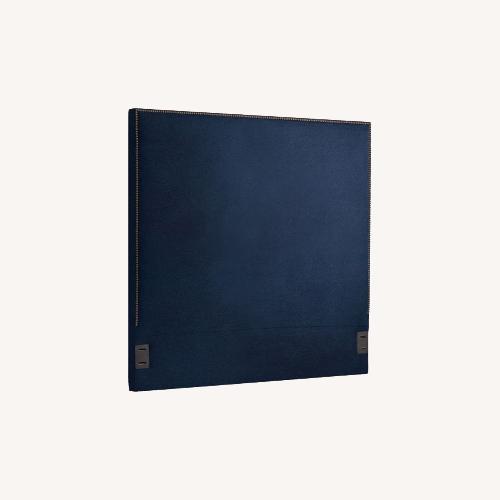 Used West Elm Upholstered Headboard Navy Velvet for sale on AptDeco