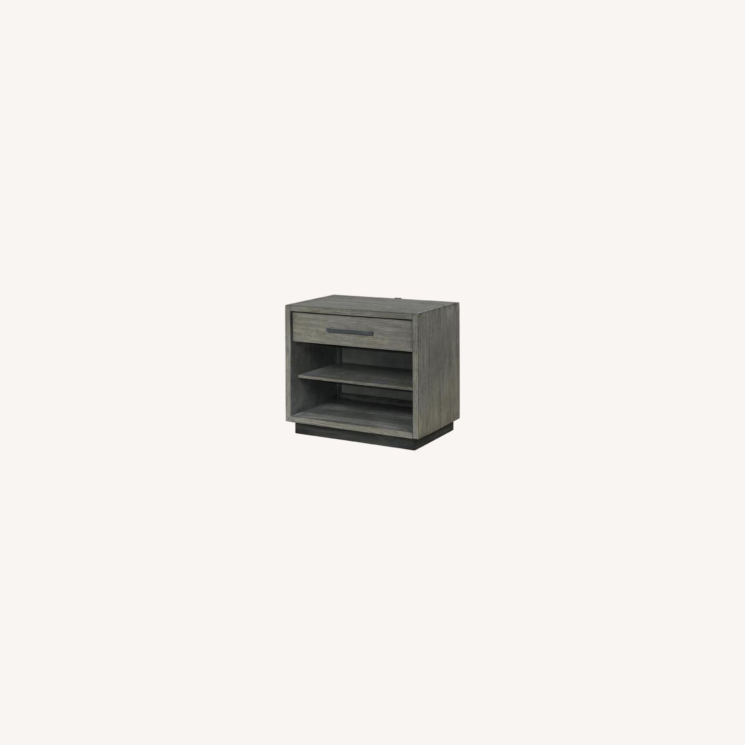 Modern Nightstand Crafted In Grey Oak - image-3