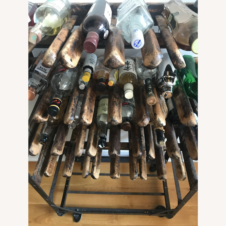 Vintage Antique Wine Rack Bar Cart - image-13