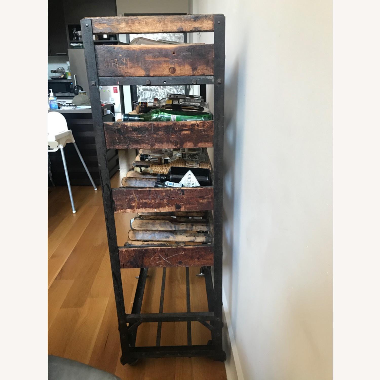 Vintage Antique Wine Rack Bar Cart - image-3