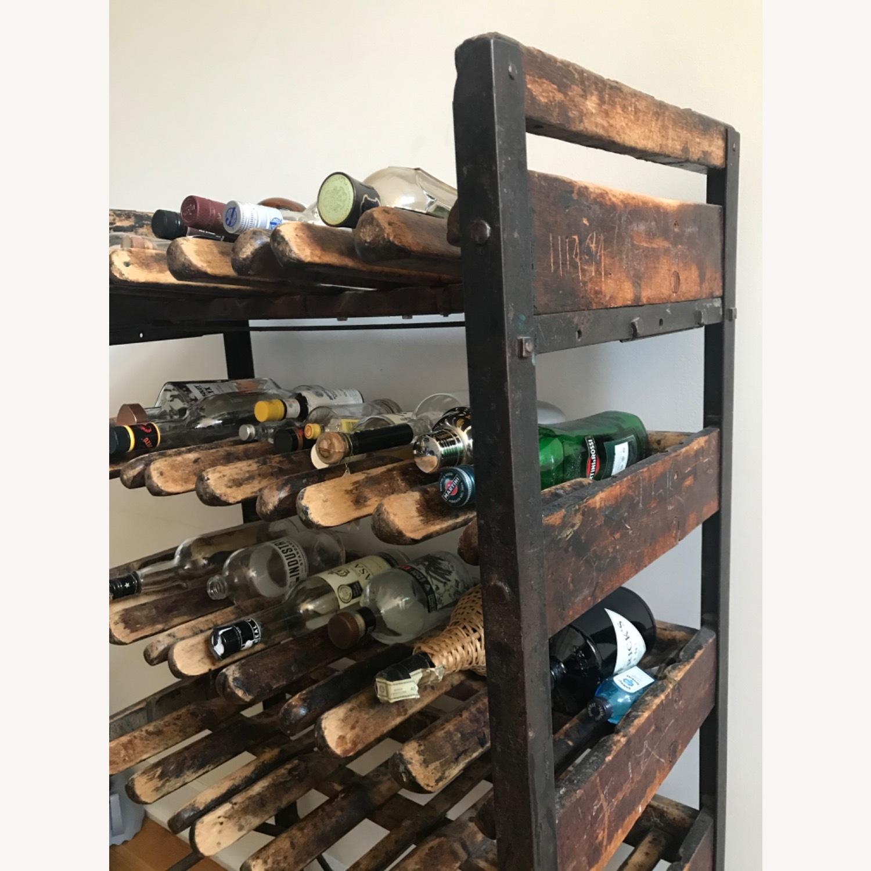 Vintage Antique Wine Rack Bar Cart - image-2