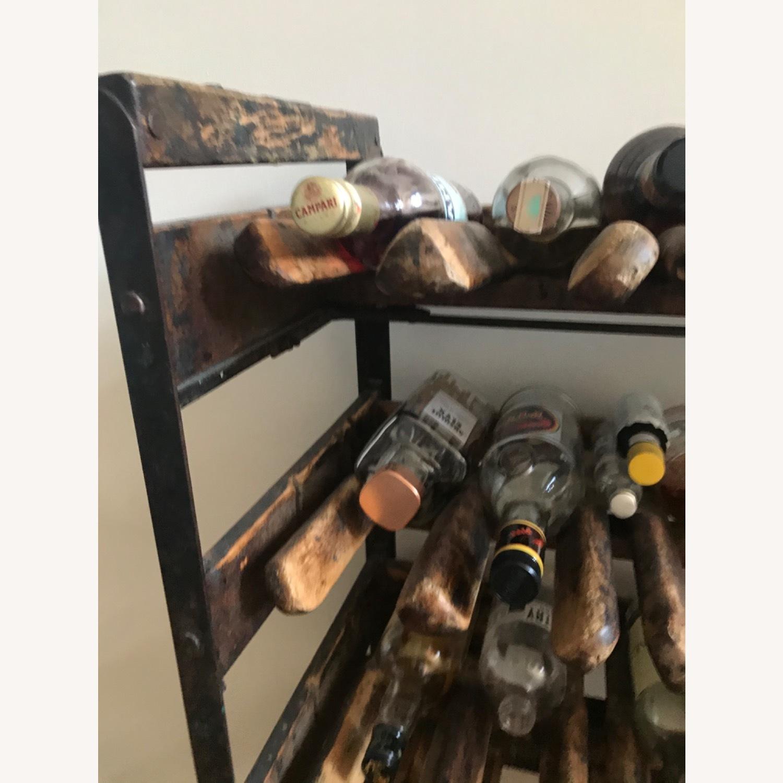 Vintage Antique Wine Rack Bar Cart - image-10
