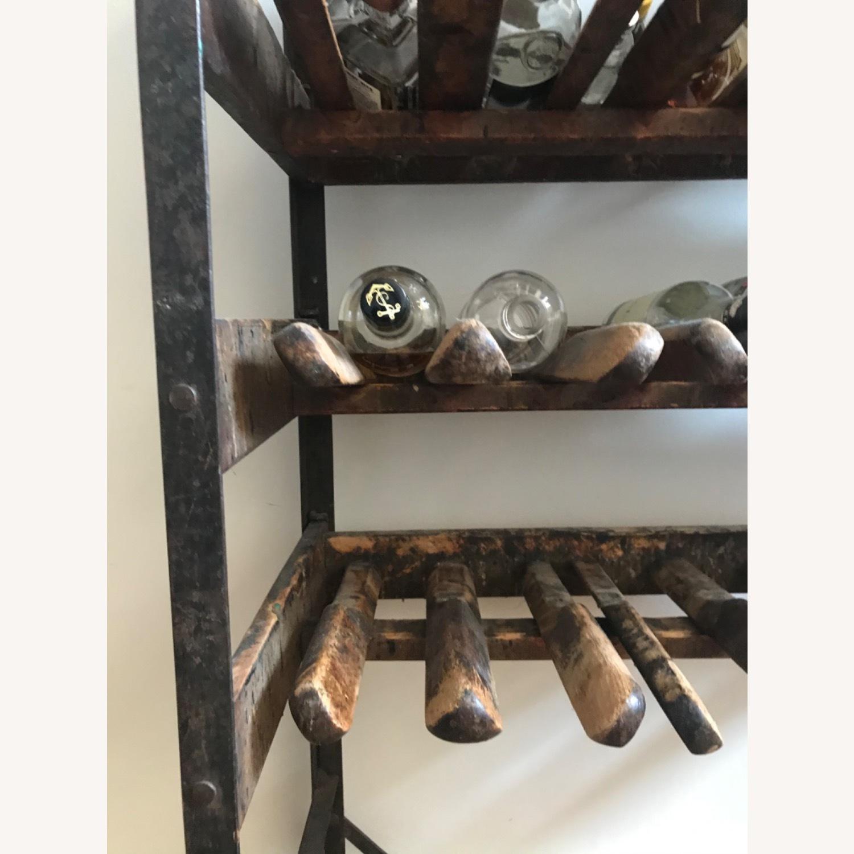 Vintage Antique Wine Rack Bar Cart - image-7