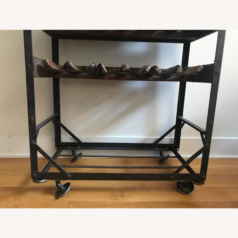 Vintage Antique Wine Rack Bar Cart - image-8