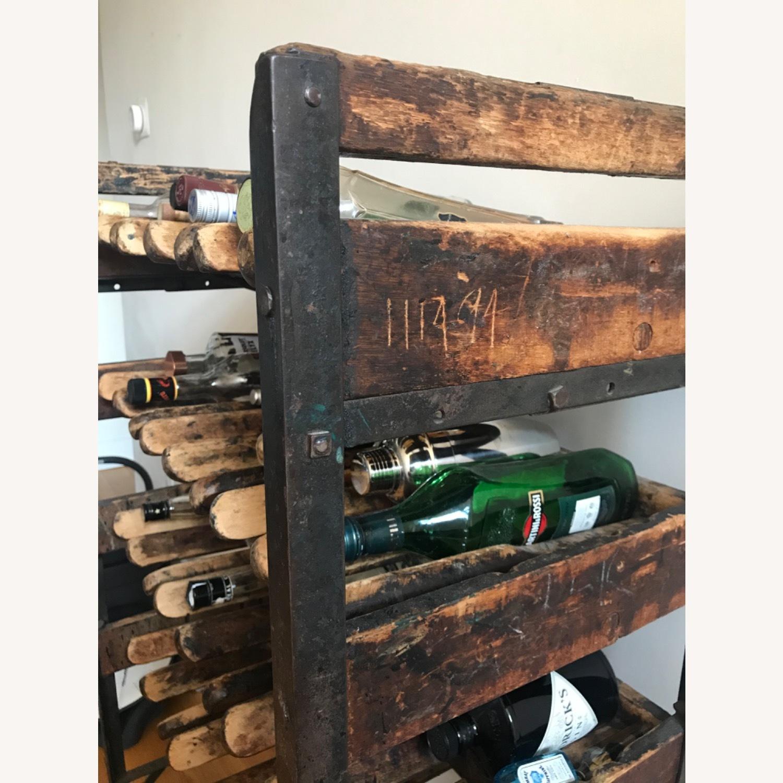 Vintage Antique Wine Rack Bar Cart - image-5