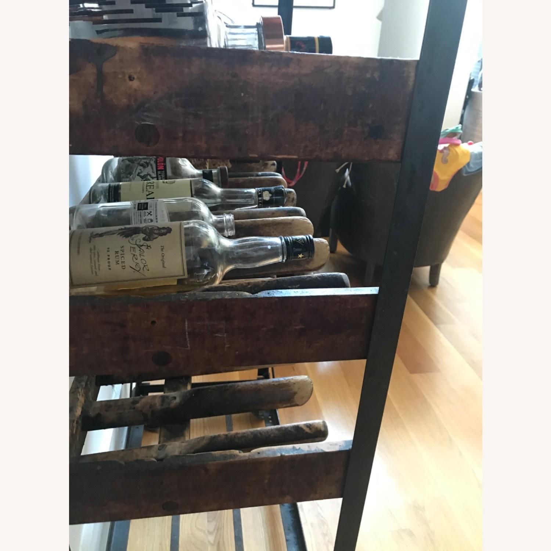 Vintage Antique Wine Rack Bar Cart - image-6