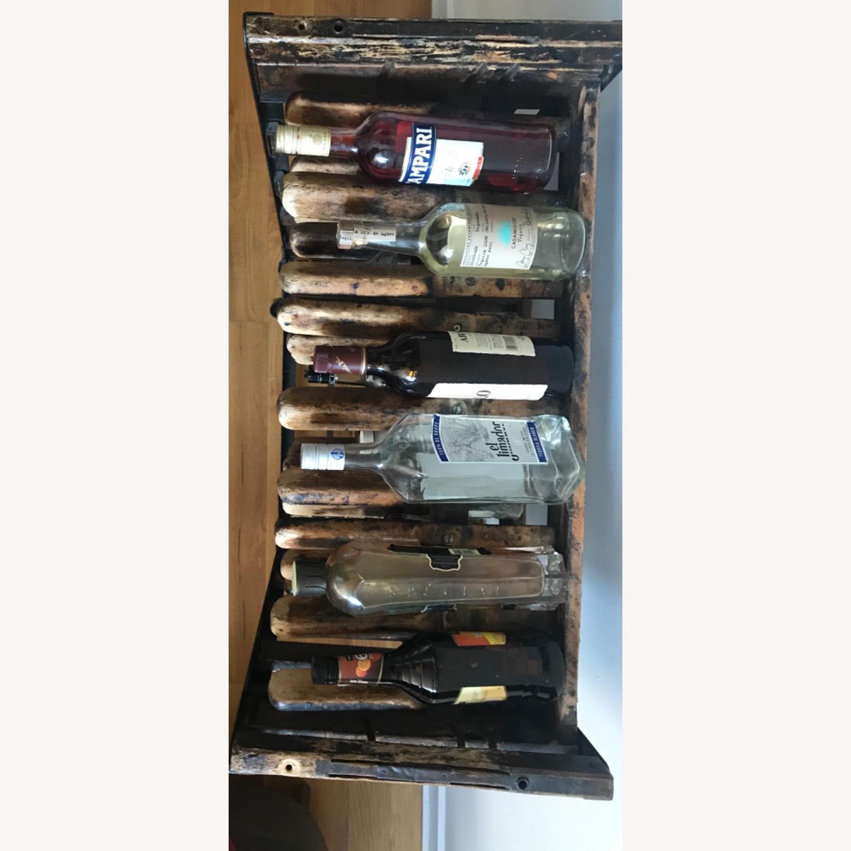 Vintage Antique Wine Rack Bar Cart - image-12